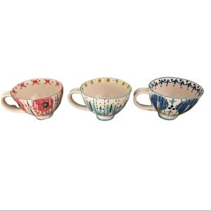 Anthropologie Teacup Mugs | 3 with dish towel